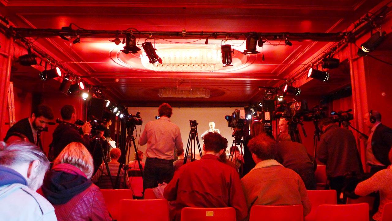 Wikileaks presskonferens i Berlin, 4 oktober 2016